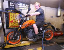 KTM 690 Duke on the dyno - power figures