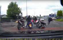 crime Undercover police on dirtbikes intercept moped thieves in Manchester