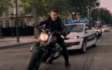 Tom does anything but Cruise through Paris in Mission Impossible promo