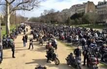 motocycle protest france
