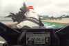 Bird hits biker on track at Philip Island