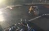 Pedestrian hit by motorbike