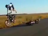Stunt fail sends rider flying