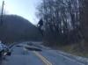 Motocross jump on broken road