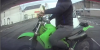 Unskilled motorcyclist comically fails wheelie attempt on British road