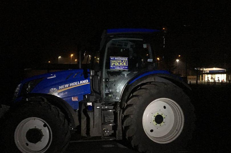 Police impounded tractor