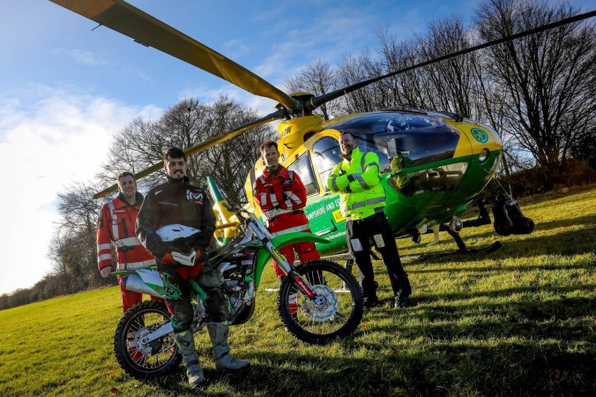 James Hillier visits local air ambulance crew