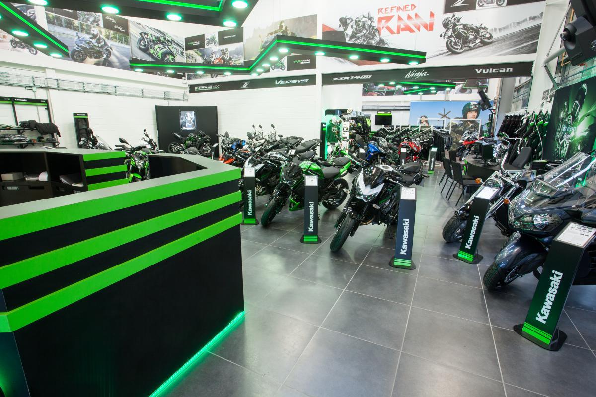 Kawasaki showroom