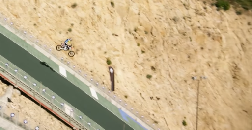 WATCH: Robbie Maddison hits a ski-jump on his motocross bike