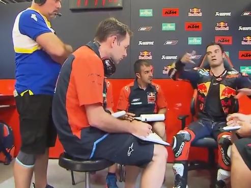 Dani Pedrosa describes a lap on the KTM MotoGP RC16