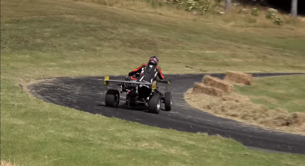 This 143hp GSX-R1000 powered quad is seriously quick!