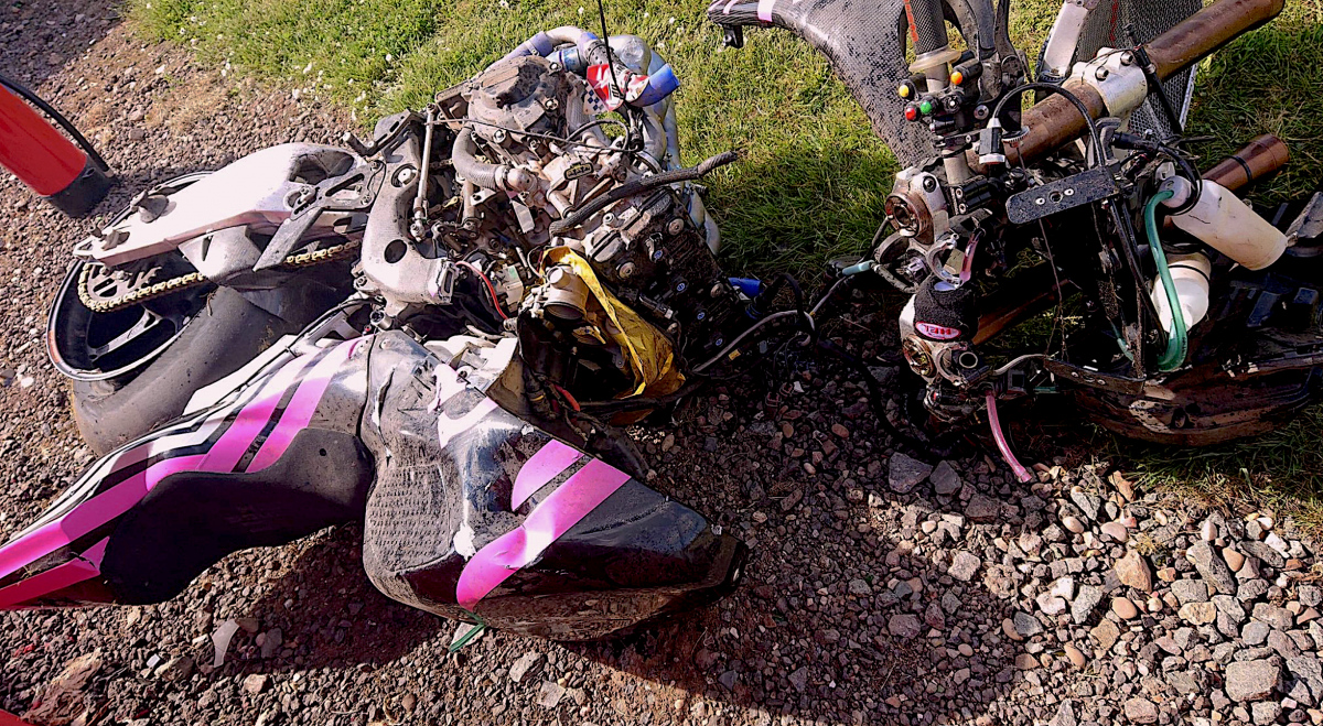 Elliott thanks OMG Racing as photos emerge of spectacular smash