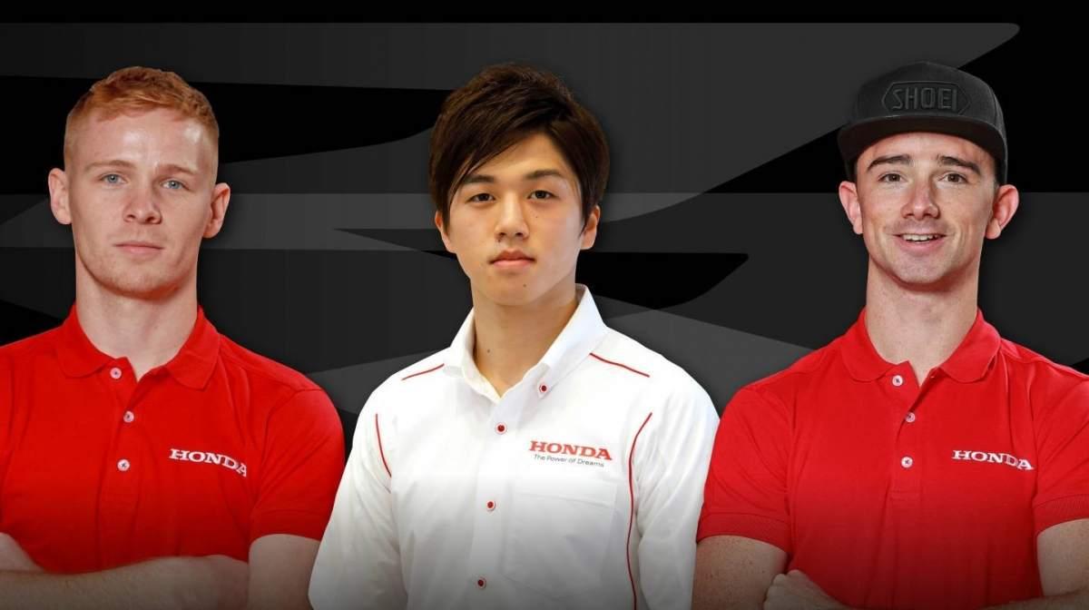 Ryo Mizuno, Glenn Irwin, Tom Neave - Honda Racing