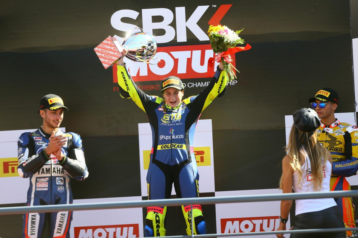 Ana Carrasco becomes first woman to win tarmac FIM world championship race