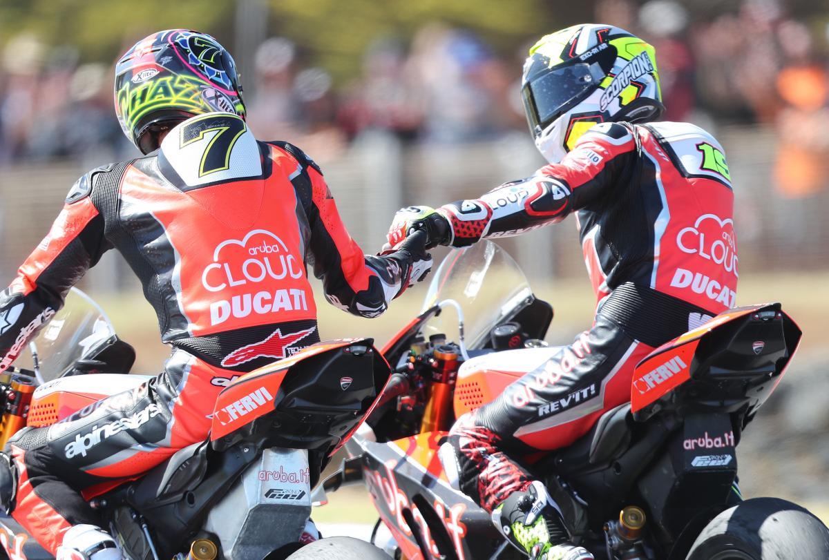 Alvaro Bautista, Chaz Davies - Aruba.it Ducati
