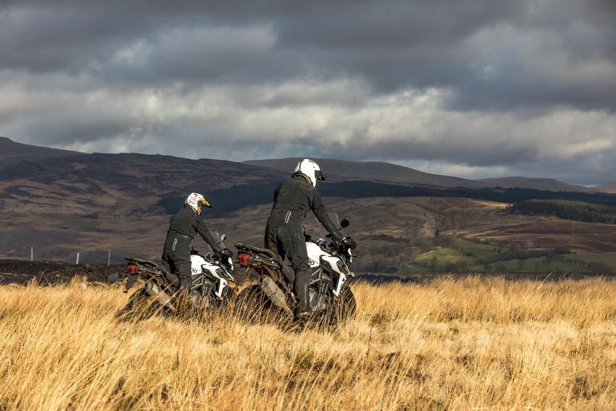 Watch: Rugby stars head off-road with Triumph