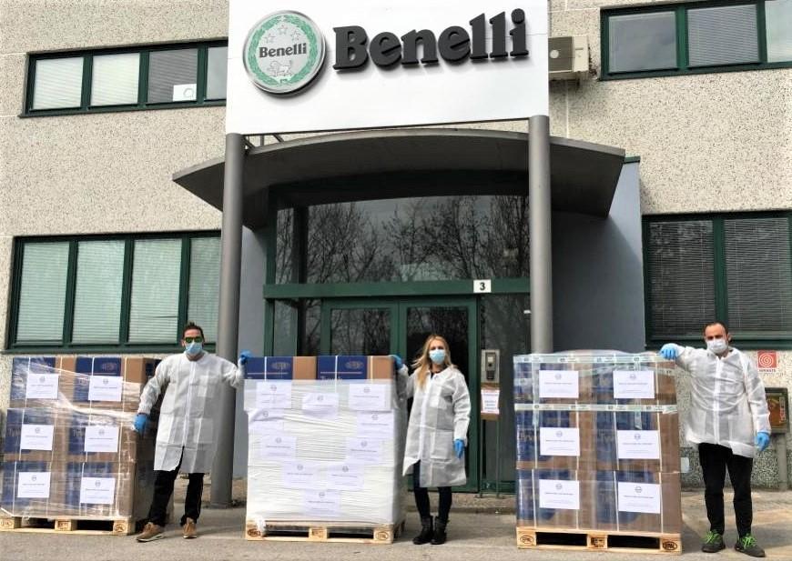 Benelli donates to coronavirus fight [credit: Benelli Facebook]
