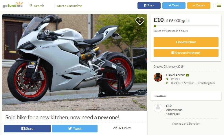 So, asking for money on GoFundMe for a new bike is a thing…