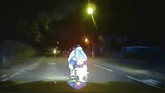 MET Police ram moped criminals