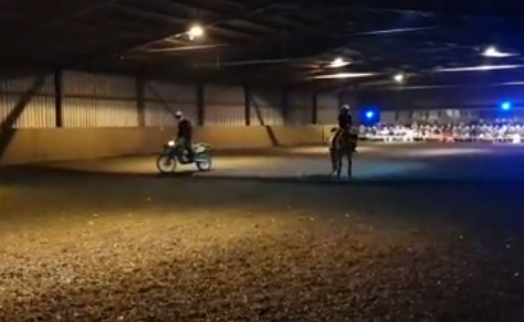 Horse motorcycle dressage
