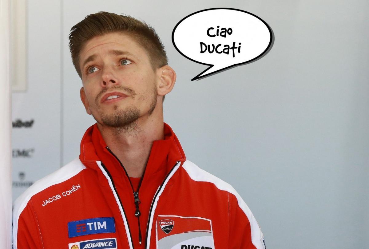 Casey Stoner leaves Ducati