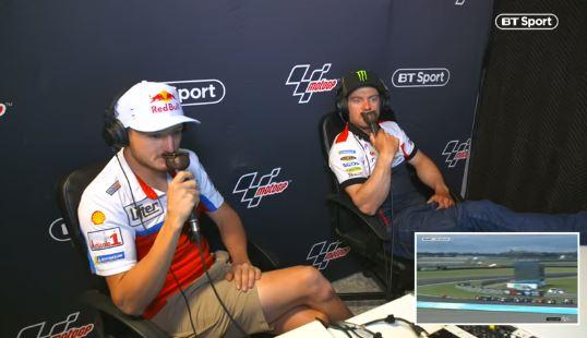 Cal Crutchlow and Jack Miller's commentary is hilarious!