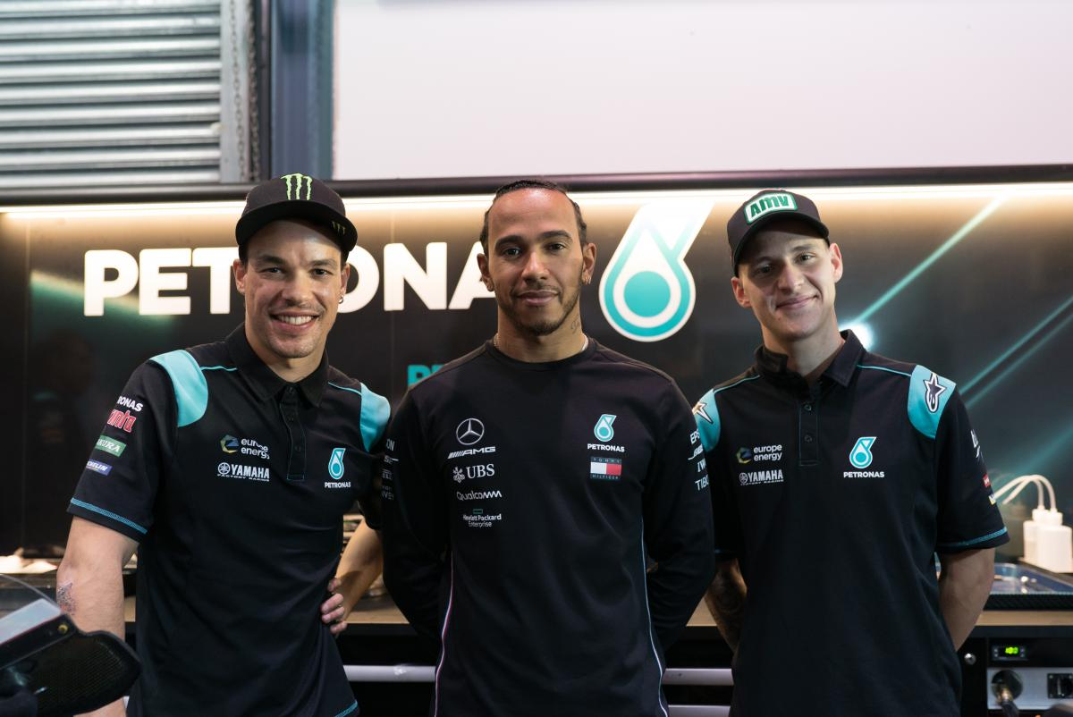 Lewis Hamilton enjoys MotoGP visit