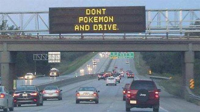 'Don't Pokémon and drive,' warn police