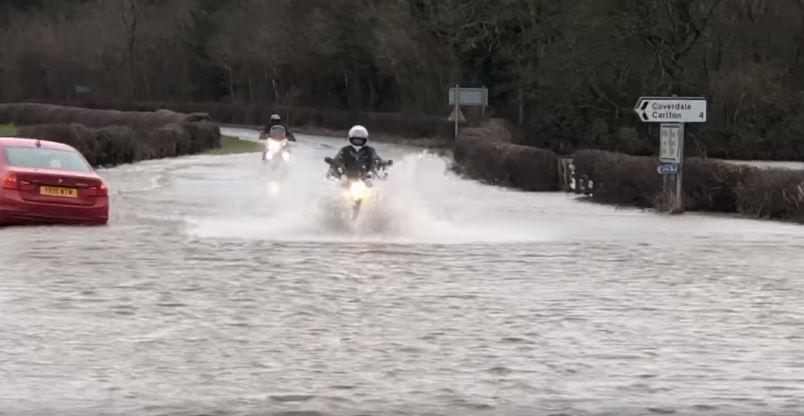 Flooded motorcycles