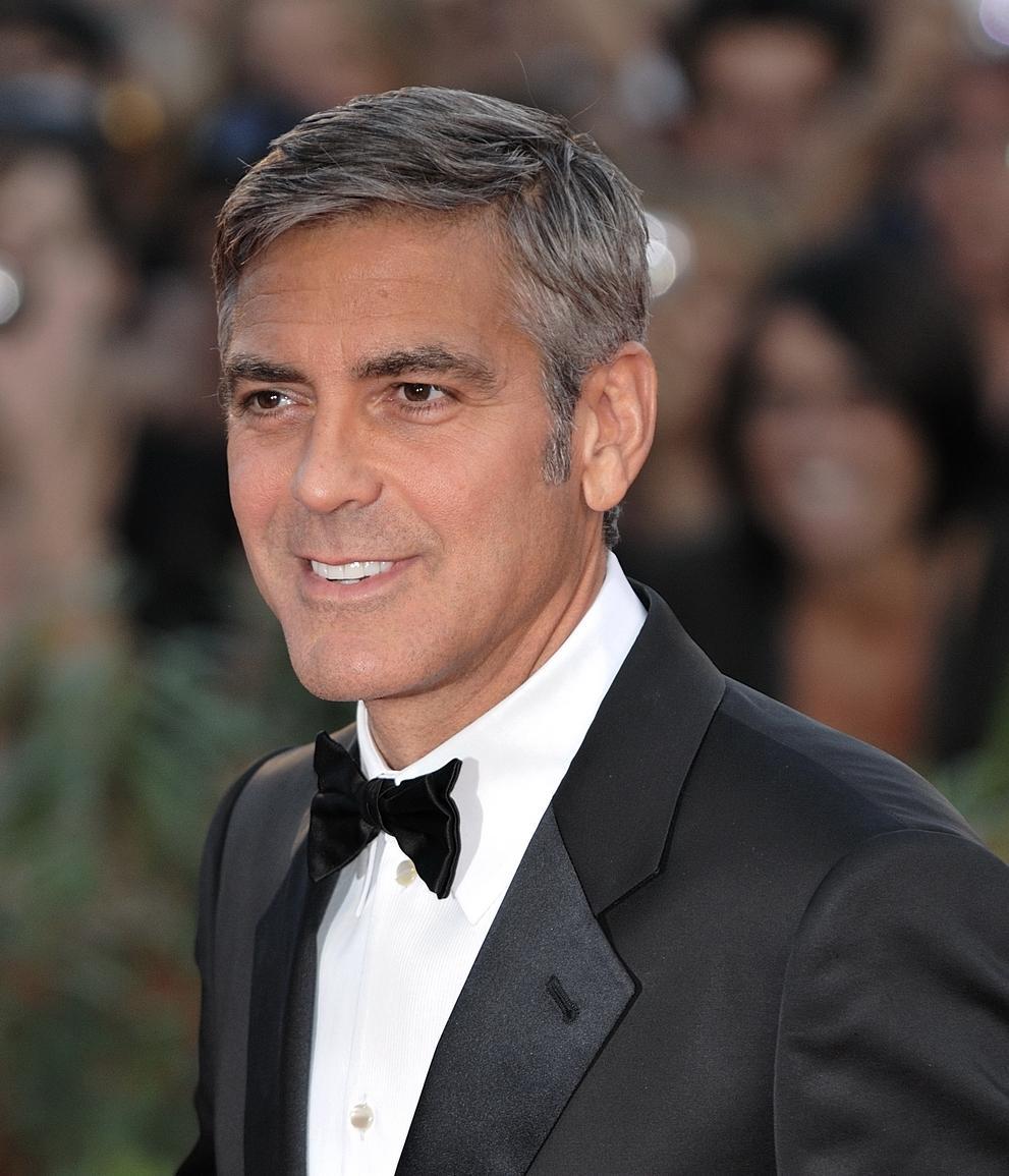 George Clooney 'split his helmet in half' during T-bone ...