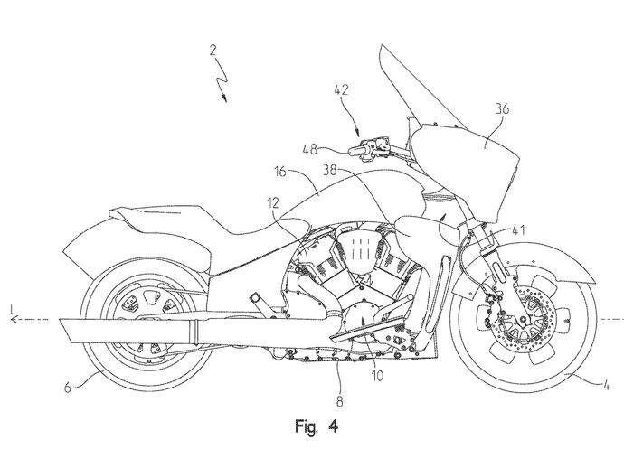 New water-cooled tourer from Indian revealed in patents