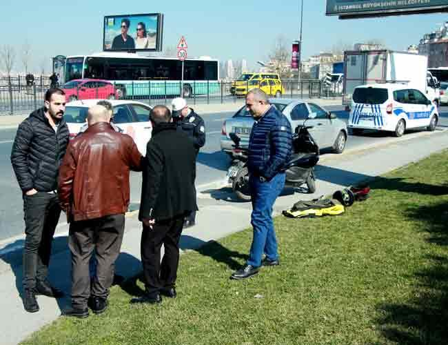 Istanbul moped attack