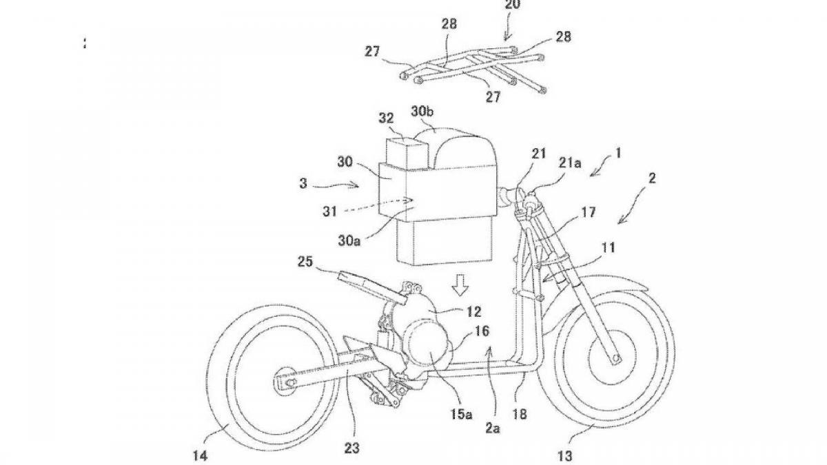 Kawasaki electric bike patents