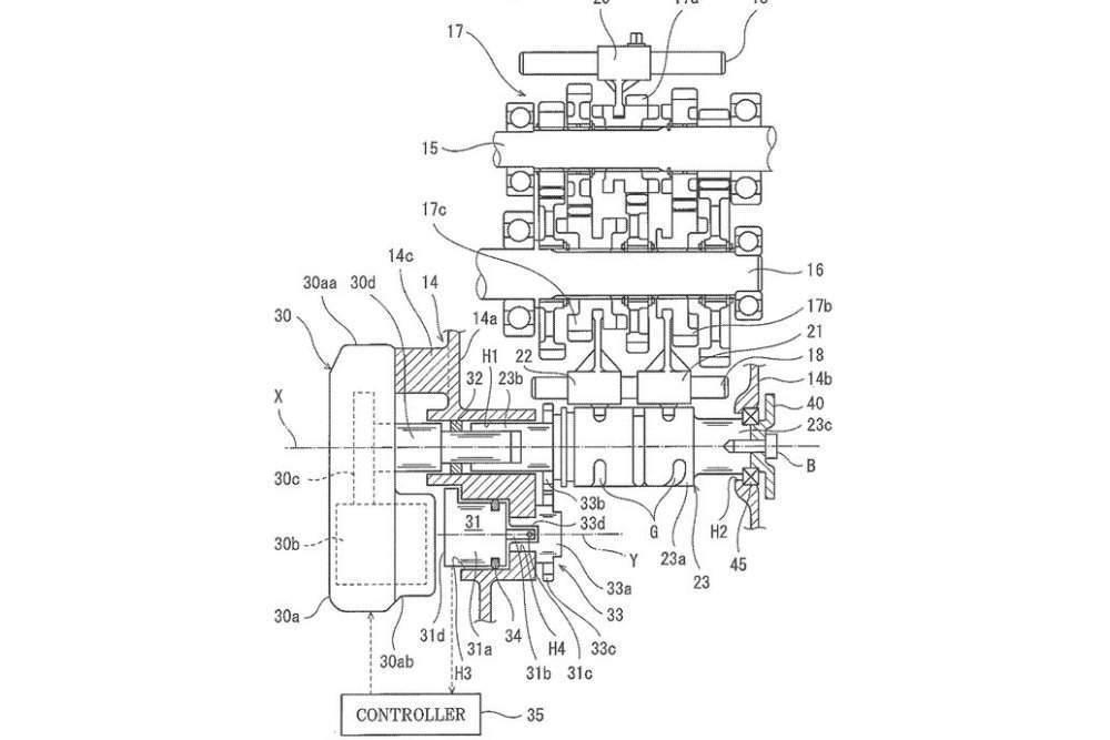 Kawasaki electric semi-auto gearbox