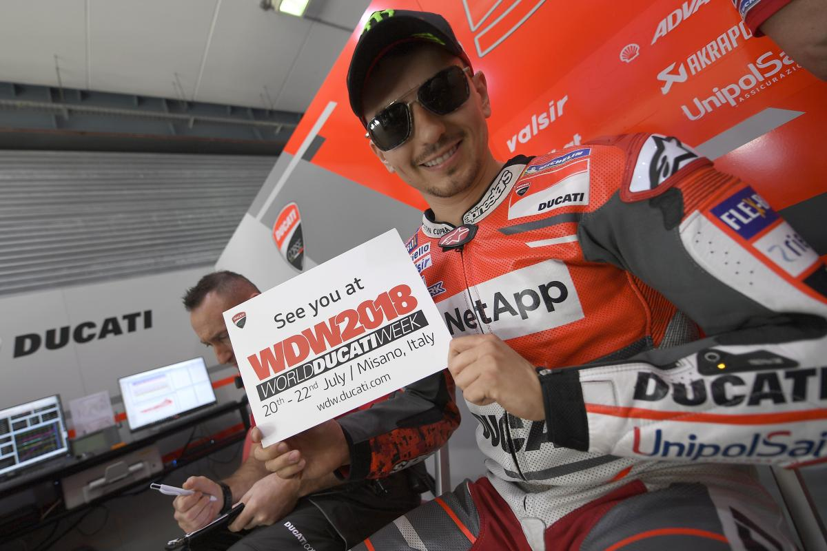 Dovizioso, Davies, Lorenzo to star at World Ducati Week 2018