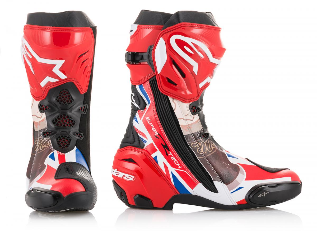 John McGuinness Alpinestars boots