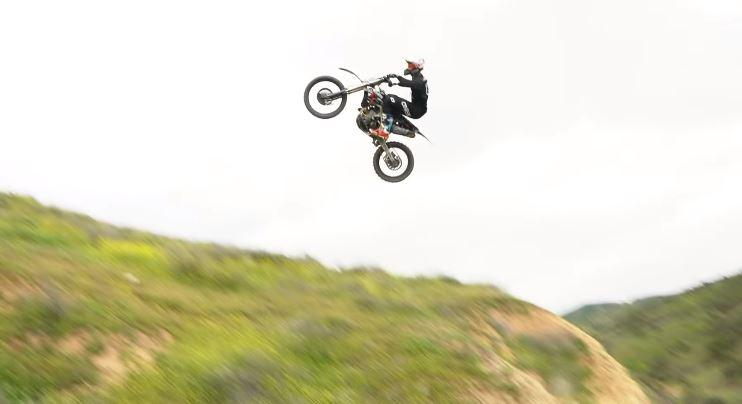 Brian Deegan gets some serious air while free riding on his dirtbike