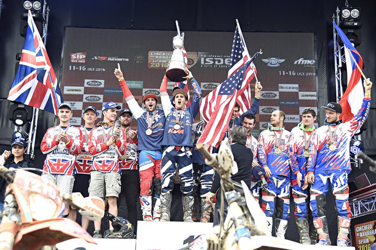 Team USA wins 2016 International Six Days Enduro
