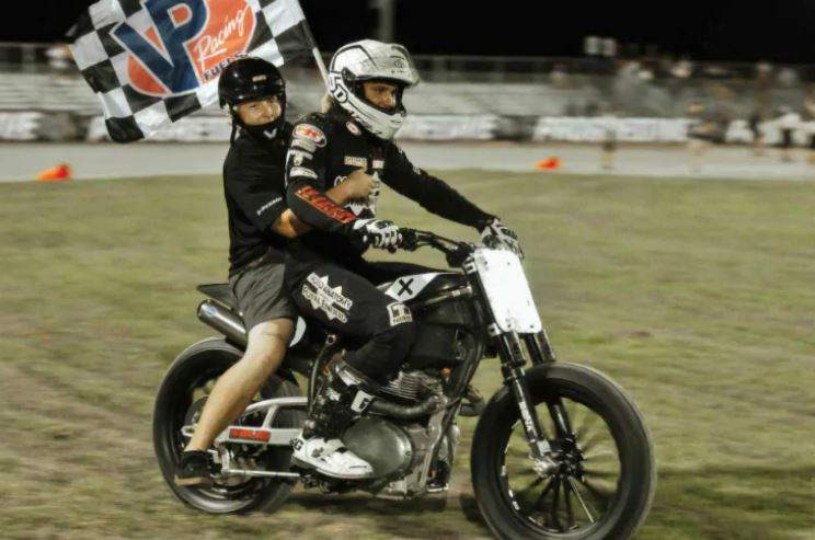 Royal Enfield flat track win