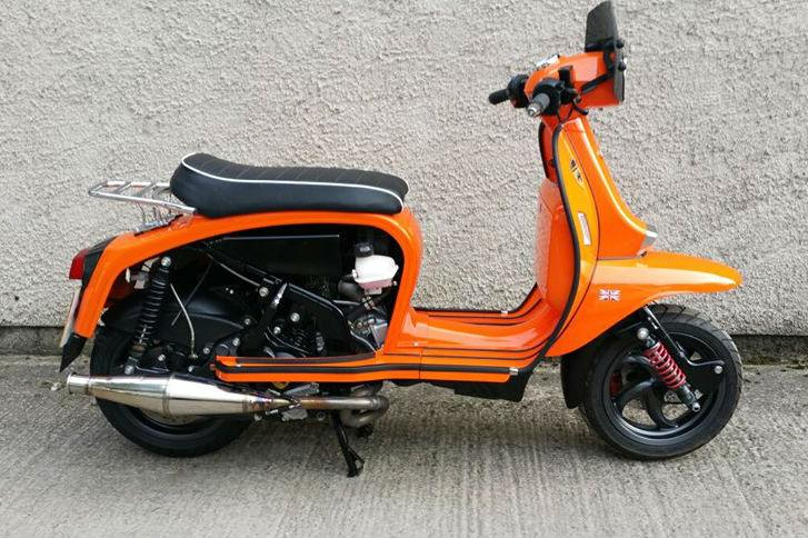 A classic-style scooter with a modern 400cc engine