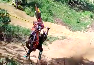 KTM pulls mother of all backflips - without its rider...