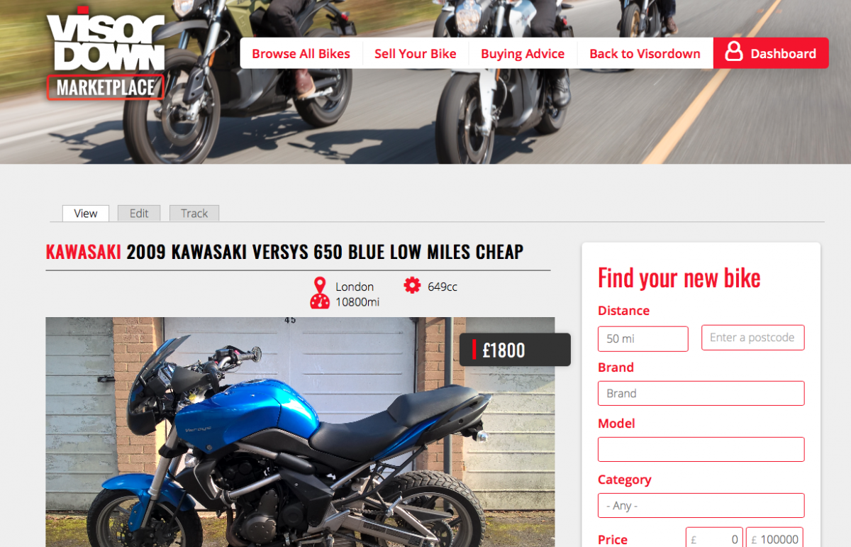 Kawasaki Versys from Visordown Marketplace