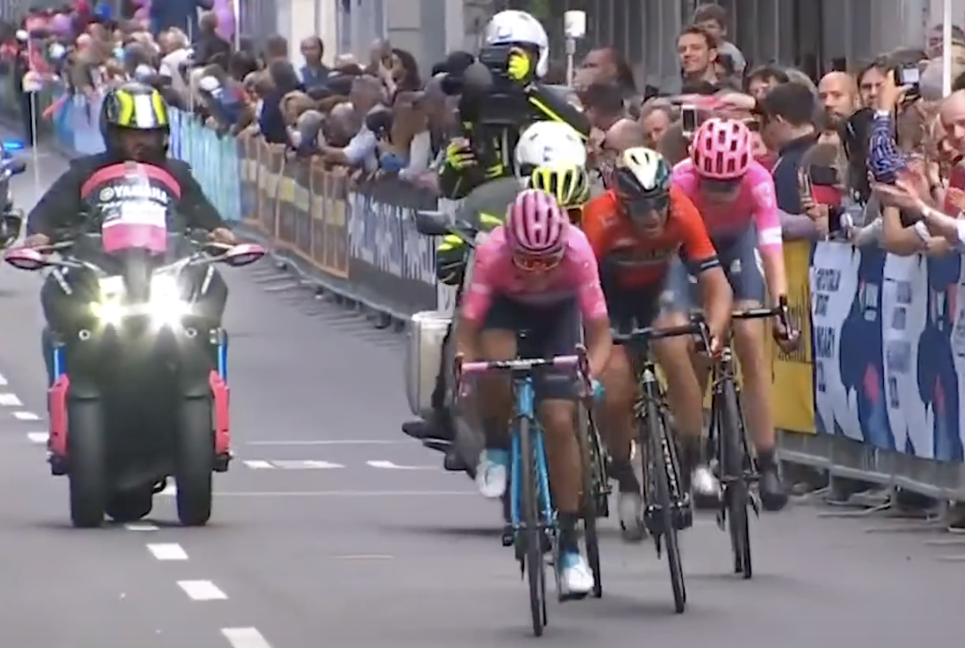 Giro d'Italia cyclist blames motorbikes for giving rivals unfair slipstreaming advantage