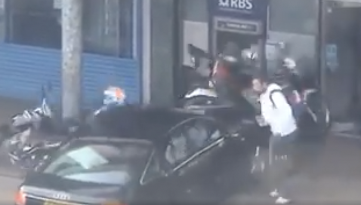 Motorcycle Riding Bank Robbers Heist Goes Horribly Wrong
