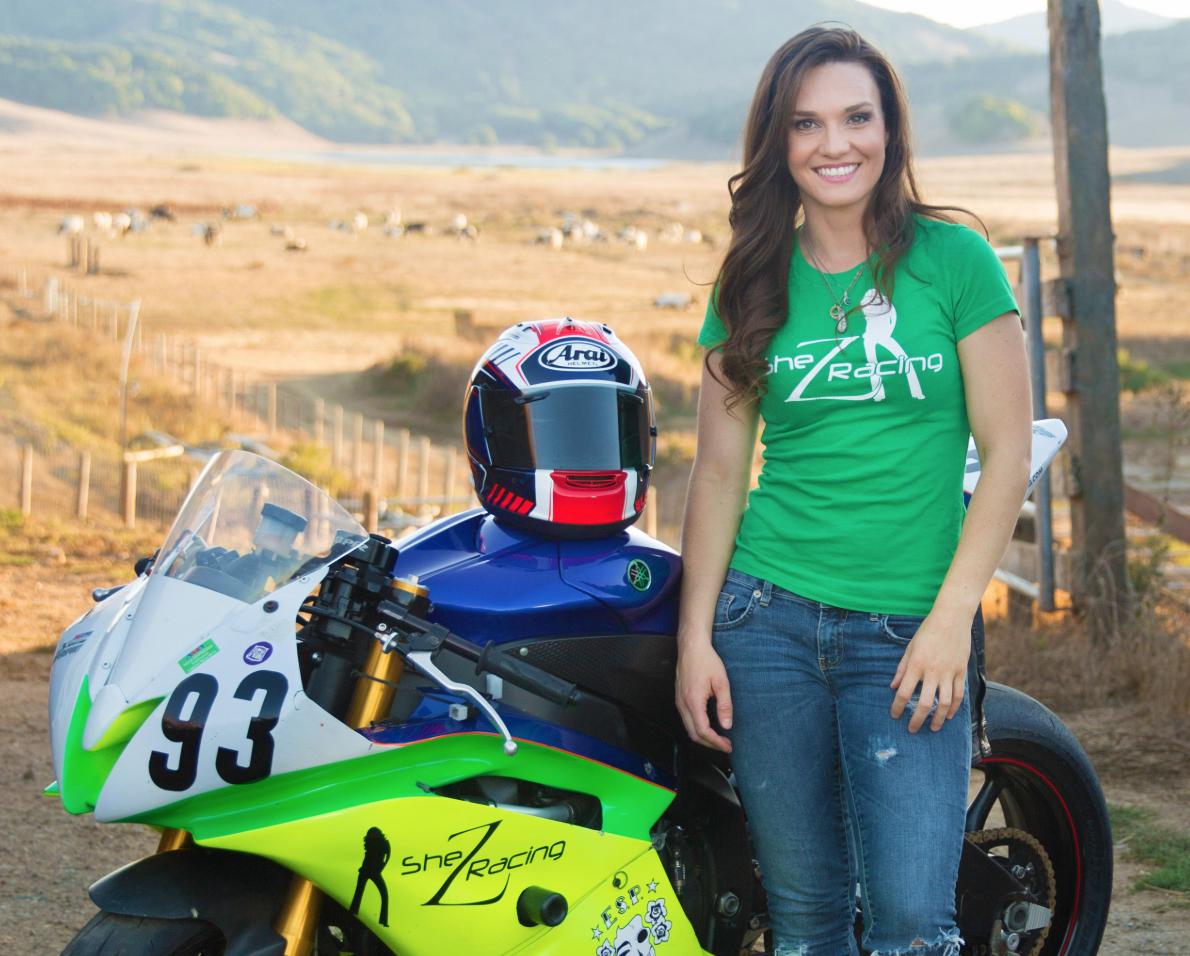 Shelina Moreda motorcycle racer
