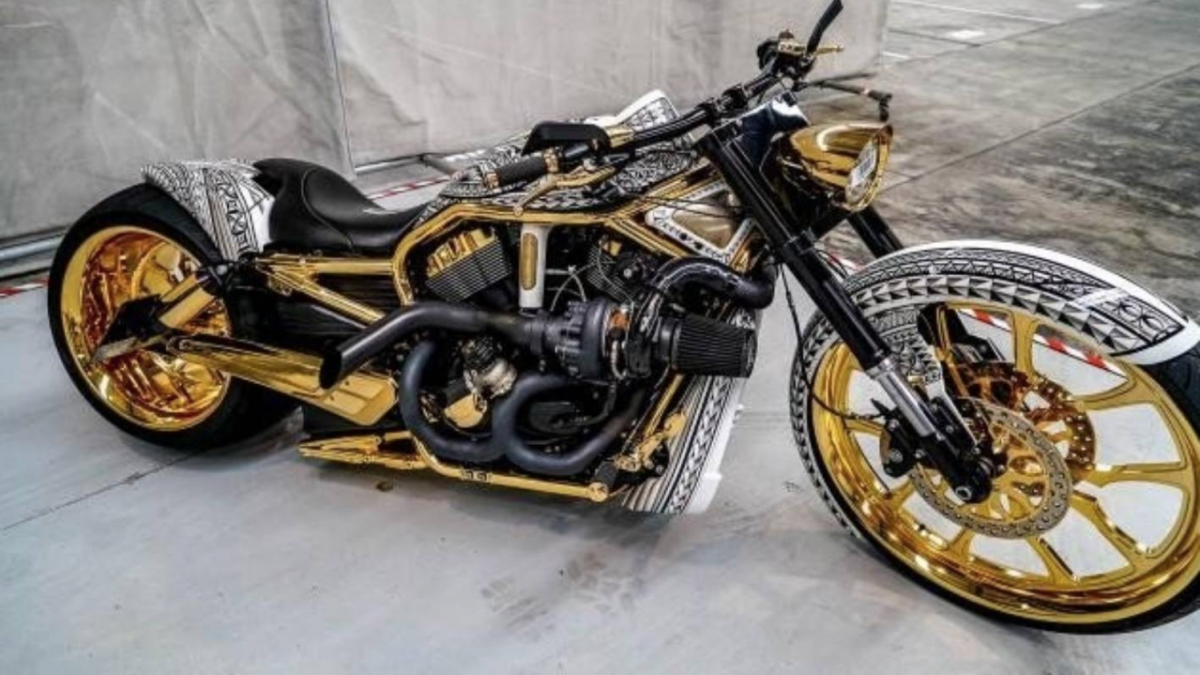 Gold Harley-Davidson