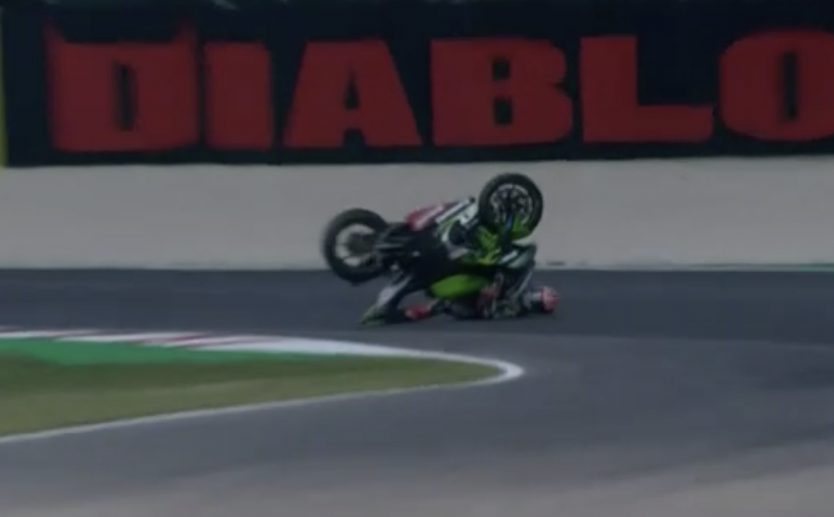 Jonathan Rea crash