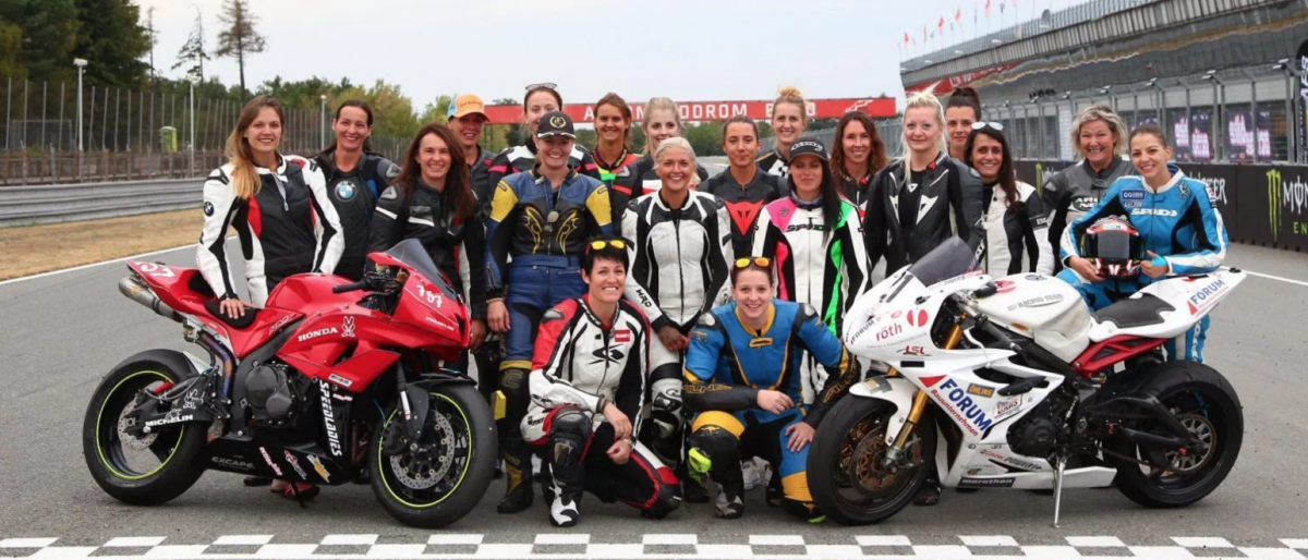 First UK female only motorcycle race
