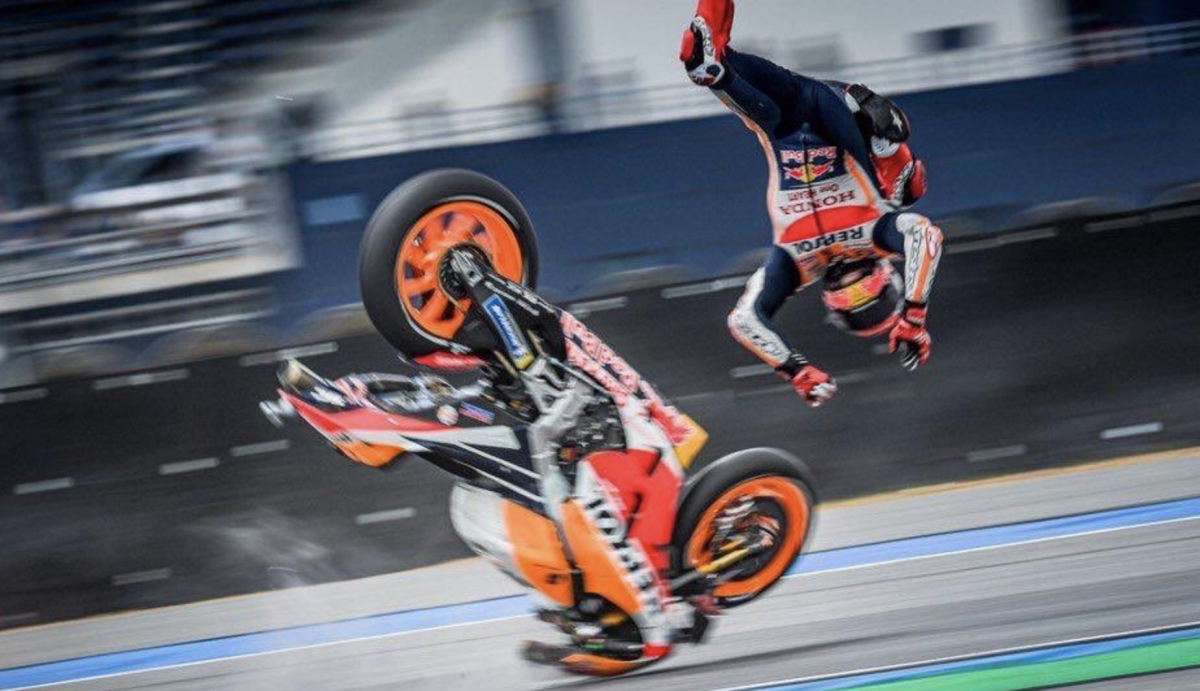 Marc Marquez Thai MotoGP crash [credit: @marcmarquez93 Twitter]