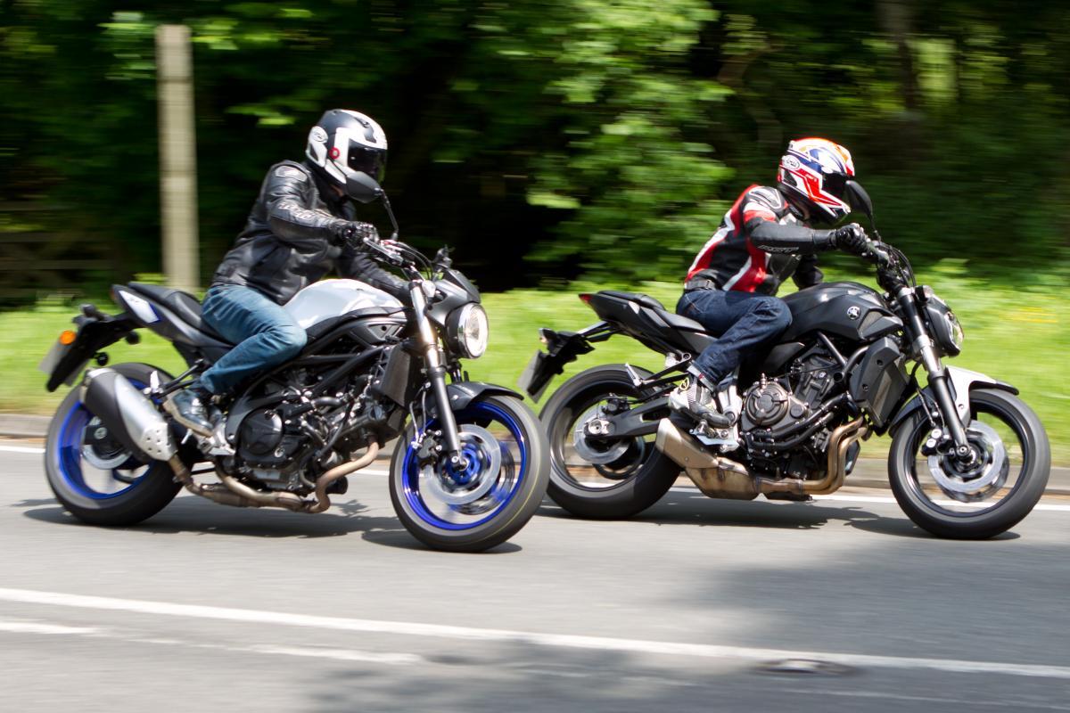 Back-to-back test: Yamaha MT-07 vs Suzuki SV650